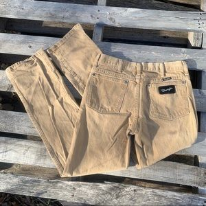 Vintage Silver Edition Wrangler wedgie jeans tan